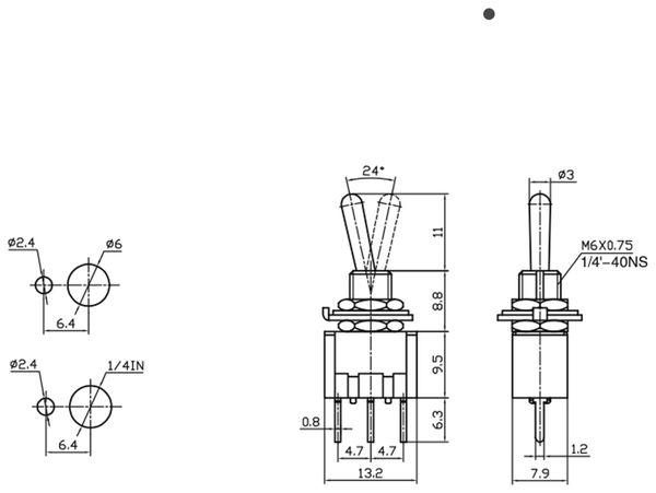 Kippschalter/-taster MTS-113-A2 - Produktbild 2