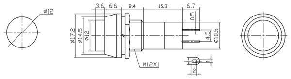 Einbau-Drucktaster PBS-11B - Produktbild 2