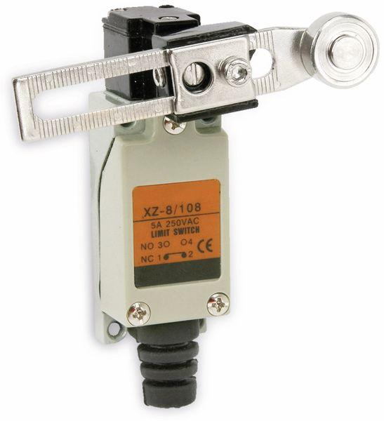 Endschalter XZ-8/108, 5A/250V~, verstellbarer Rollenhebel