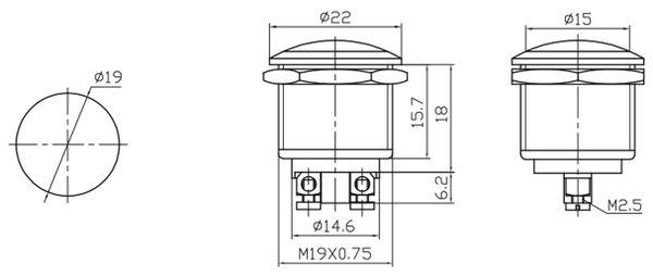 Drucktaster PBS-28C, Öffner - Produktbild 2