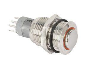 Metall-Einbaudrucktaster mit LED-Beleuchtung - Produktbild 1