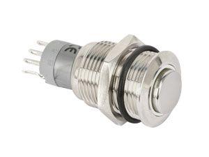Metall-Einbaudruckschalter mit LED-Beleuchtung