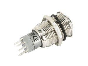 Metall-Einbaudruckschalter mit LED-Beleuchtung - Produktbild 2