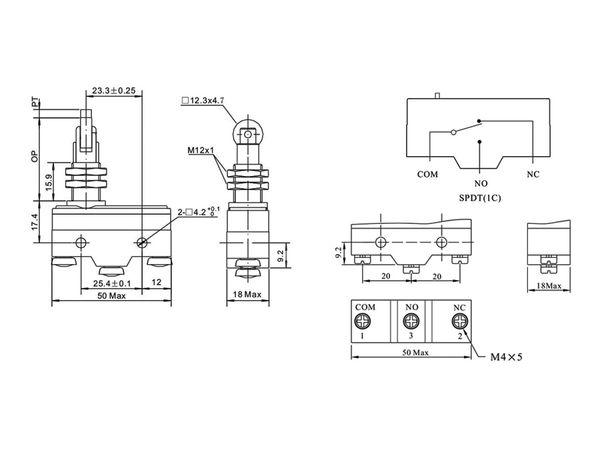 Stößelschalter PZ-15GQ21-B, 90°, 15 A/250 V~ - Produktbild 3