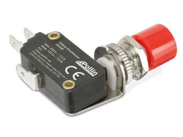 Einbau-Drucktaster DS438, 7,5 A/250 V~, rot - Produktbild 2