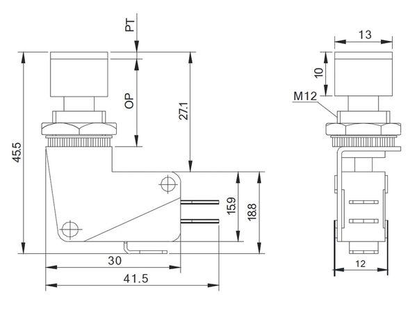 Einbau-Drucktaster DS438, 7,5 A/250 V~, rot - Produktbild 5