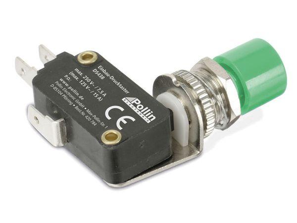 Einbau-Drucktaster DS438, 7,5 A/250 V~, grün - Produktbild 2
