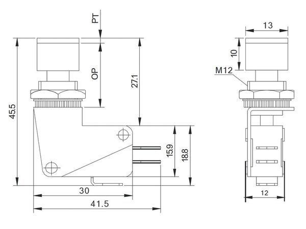 Einbau-Drucktaster DS438, 7,5 A/250 V~, grün - Produktbild 5