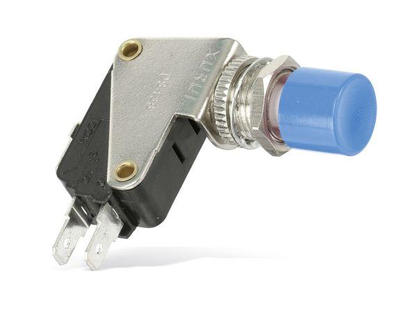 Einbau-Drucktaster DS438, 7,5 A/250 V~, blau - Produktbild 1