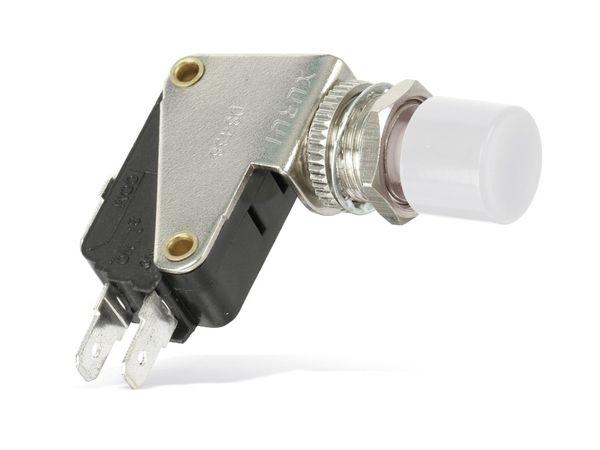 Einbau-Drucktaster DS438, 7,5 A/250 V~, weiß - Produktbild 1