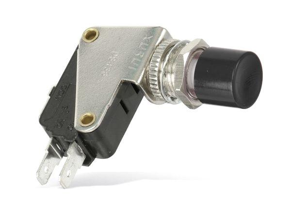 Einbau-Drucktaster DS438, 7,5 A/250 V~, schwarz