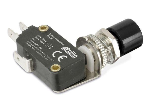 Einbau-Drucktaster DS438, 7,5 A/250 V~, schwarz - Produktbild 2