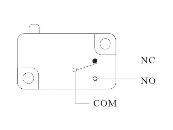 Einbau-Drucktaster DS438, 7,5 A/250 V~, schwarz - Produktbild 4
