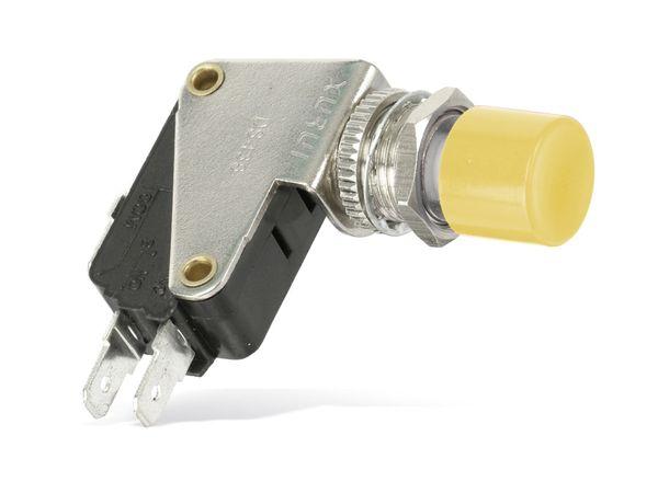 Einbau-Drucktaster DS438, 7,5 A/250 V~, gelb - Produktbild 1