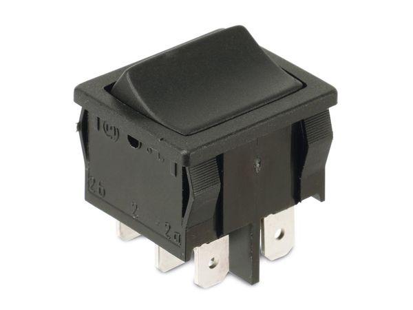 Einbau-Wippenschalter MARQUARDT 1809.1102, 2-polig, EIN/AUS/EIN - Produktbild 1