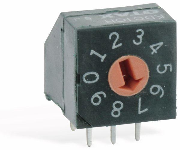 Miniatur-Drehkodierschalter OTAX KDC10H, 10 Pos, BCD - Produktbild 1