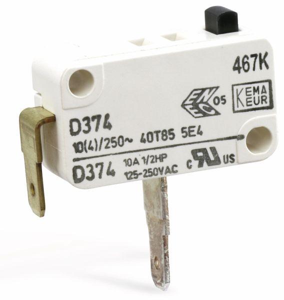 Miniatur-Schnappschalter CHERRY D374-QGAA, Schließer, 10 A/250 V~