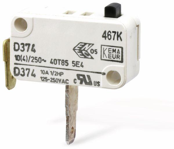 Miniatur-Schnappschalter CHERRY D374-QGAA, Schließer, 10 A/250 V~ - Produktbild 2