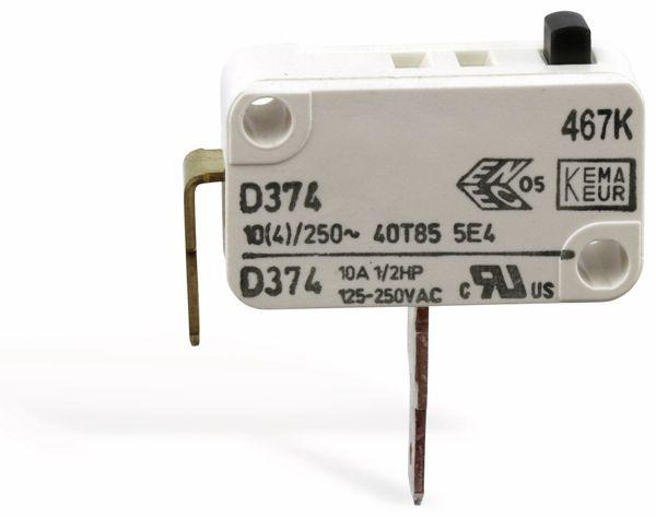 Miniatur-Schnappschalter CHERRY D374-QGAA, Schließer, 10 A/250 V~ - Produktbild 3