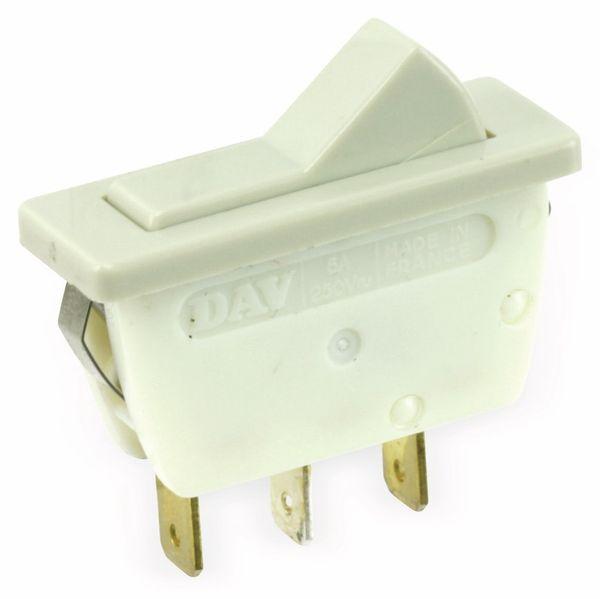 Einbau-Wippenschalter DAV 5184, 1-polig, EIN/AUS/EIN