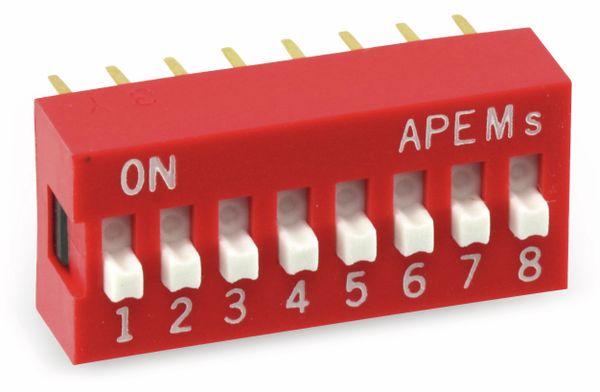 DIP-Schalter APEM DS-08, 8-polig