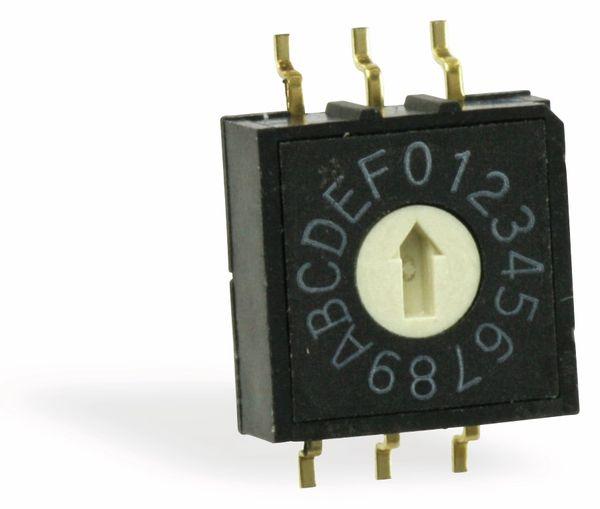SMD Dreh-Codierschalter DIPTRONICS RM3A-16R-V-B, 16 Positionen - Produktbild 1