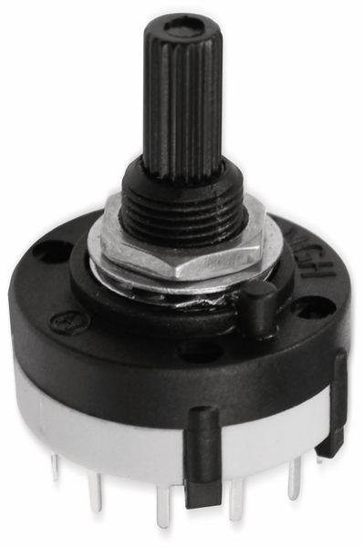 Drehschalter CKA2X06, 26 mm, 2x6 Kontakte