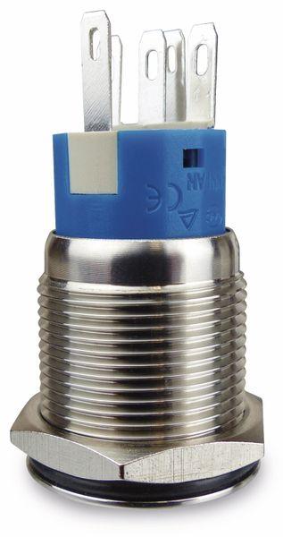 Drucktaster 1 Schließer, 1 Öffner, Metall mit Klingelsymbol und Beleuchtung - Produktbild 2