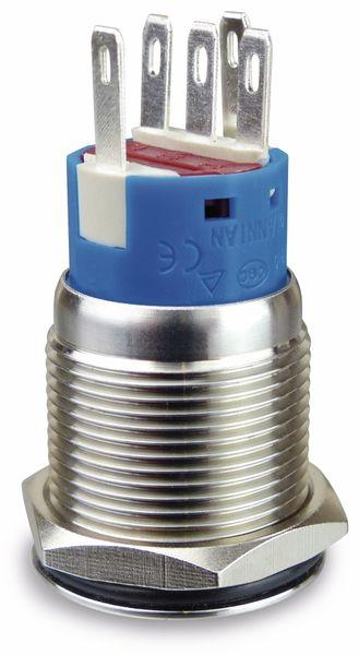 Drucktaster 1 Schließer, 1 Öffner, Metall mit Lichtsymbol und Beleuchtung - Produktbild 2