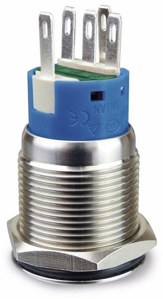 Drucktaster 1 Schließer, 1 Öffner Metall mit Ein/Aus-Symbol und Beleuchtung - Produktbild 2
