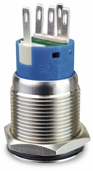 Metallschalter 1 Schließer, 1 Öffner, Ein/Aus-Symbol beleuchtet - Produktbild 2