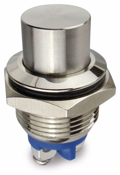 Drucktaster, 1 Schließer, Metall, hoher Tasterkopf - Produktbild 1