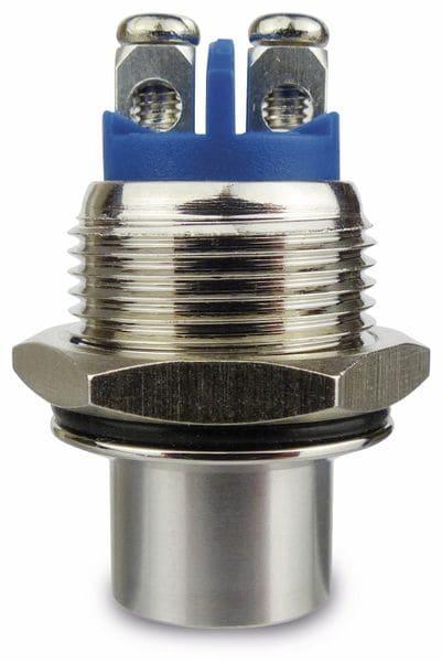 Drucktaster, 1 Schließer, Metall, hoher Tasterkopf - Produktbild 2