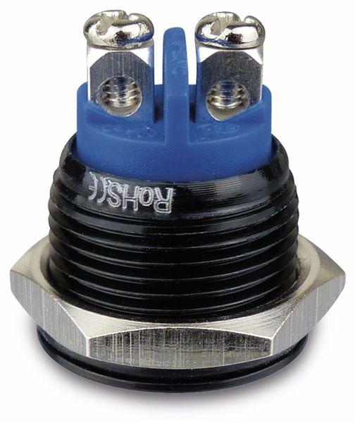 Drucktaster, 1 Schließer, Aluminium, schwarz, 16 mm - Produktbild 2