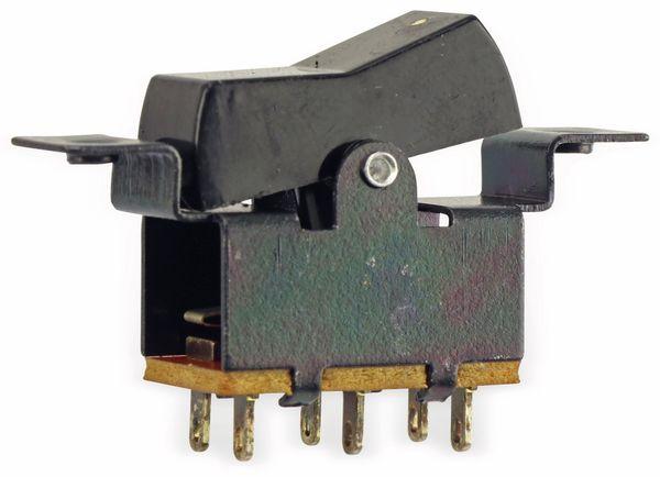 Einbau-Wippenschalter, 2xUM, schwarz - Produktbild 4