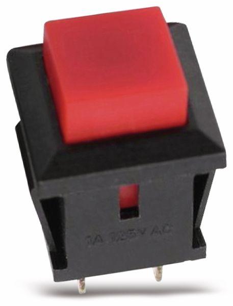 Snap-in Drucktaster mit Lötösen, 14x14 mm, rot - Produktbild 2