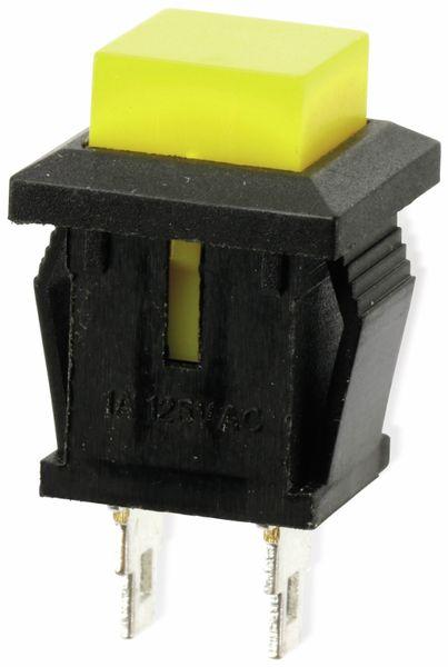 Snap-in Drucktaster mit Lötösen, 14x14 mm, gelb