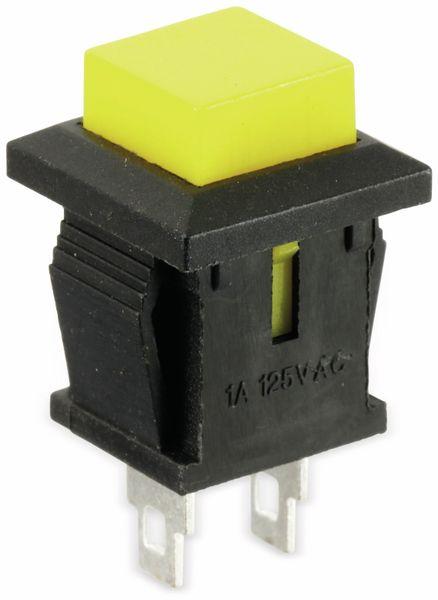 Snap-in Drucktaster mit Lötösen, 14x14 mm, gelb - Produktbild 3