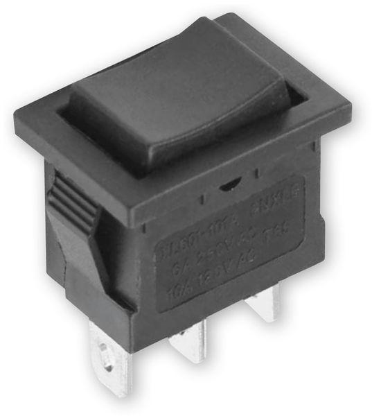 Snap-in Einbau Wippenschalter/-Taster XL601-101A, 6 A/250 V~