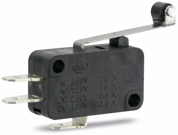 Miniatur-Schnappschalter MS-B, mit Rollenhebel-Zusatzbetätiger - Produktbild 1