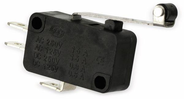 Miniatur-Schnappschalter MS-B, mit Rollenhebel-Zusatzbetätiger - Produktbild 2