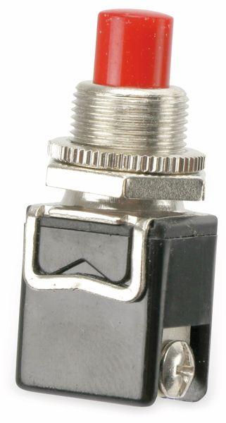 Einbau-Drucktaster PBS-13B, 1 Schließer, rot - Produktbild 1