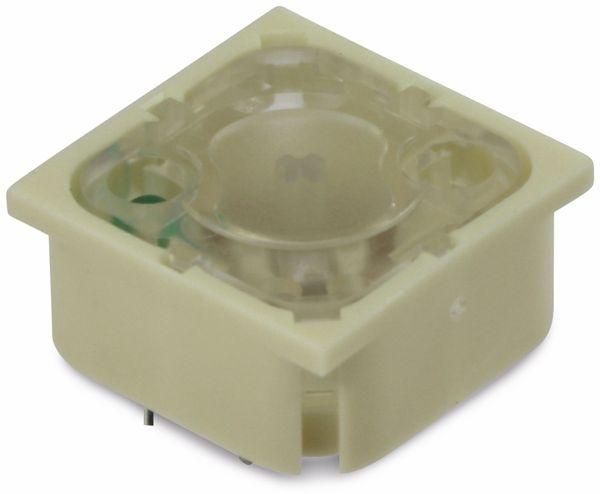 Drucktaster, RAFI, RF19, beleuchtet,LED grün - Produktbild 1