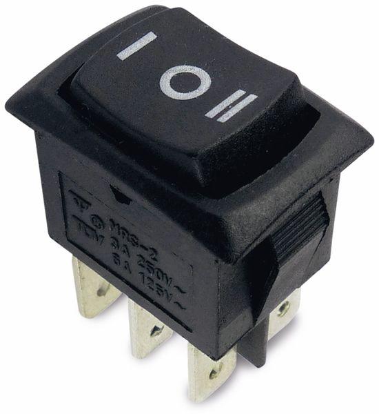 Wippenschalter 18x13 mm, 2-pol., I-0-II