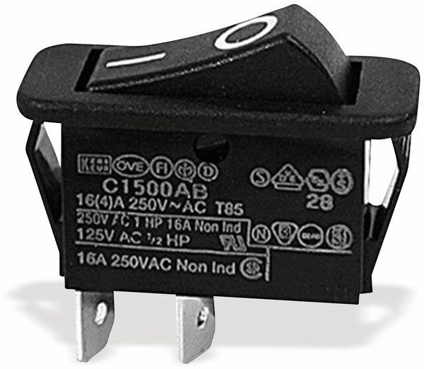 Wippenschalter, 1-polig, I-0, sw, 30x11 mm