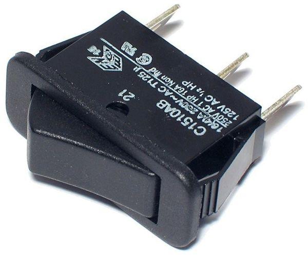 Wippenschalter 1-pol., 1xUM, 30x11mm, 16 A/ 250 V - Produktbild 1