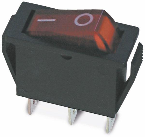 Wippenschalter 27x10,5mm , I-0, rot beleuchtet