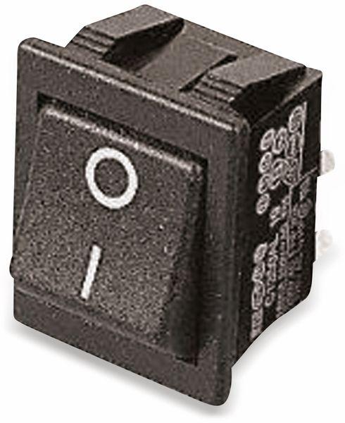 Wippenschalter 22x30mm , 2xEIN, 16 A/250 V~