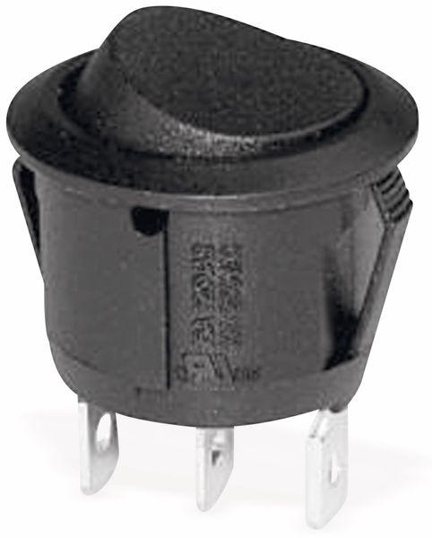 Wippenschalter 1xU 250V 10A sw, Ø 20,2 mm