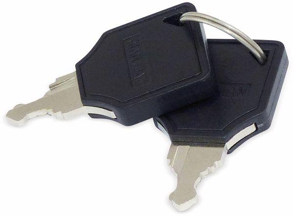 Schlüsselschalter metall 19 mm, 2 x Wechsler - Produktbild 3